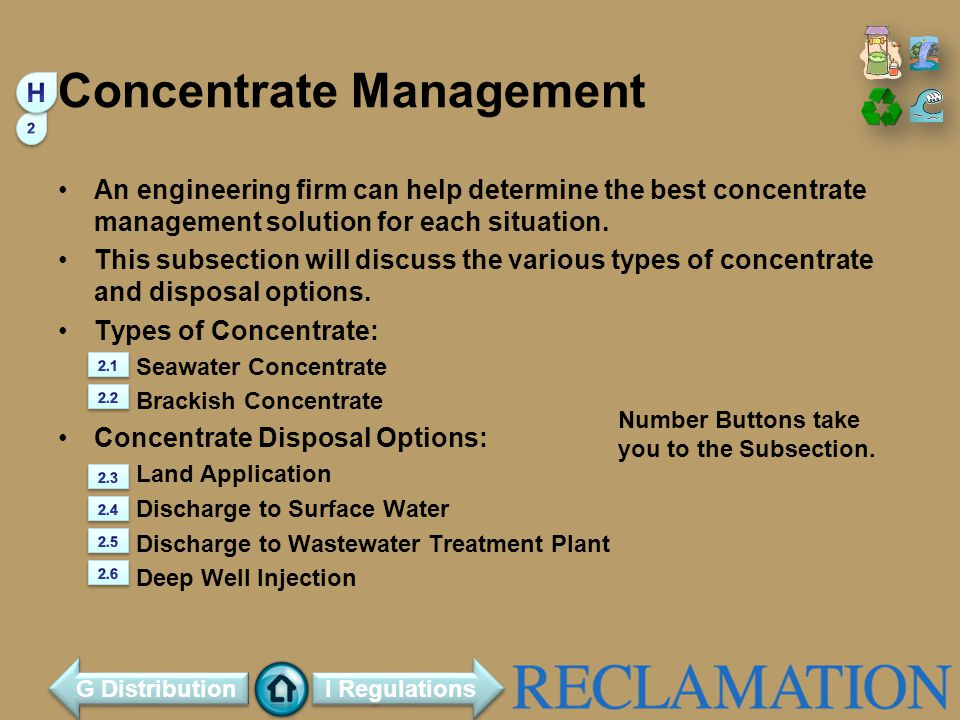 Concentrate Management