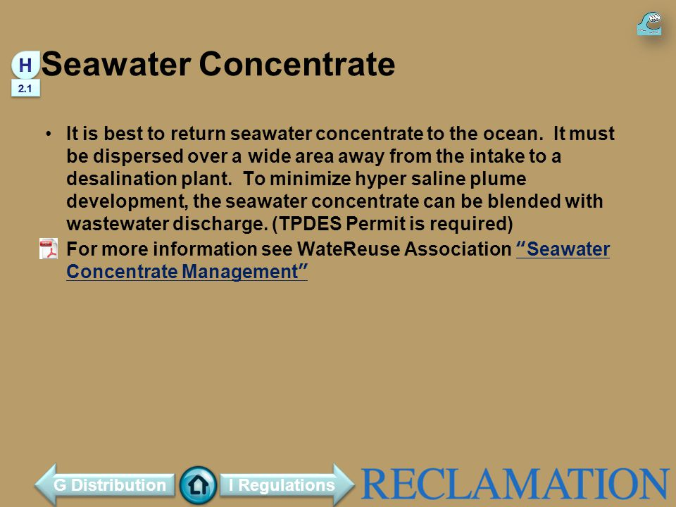 Seawater Concentrate H