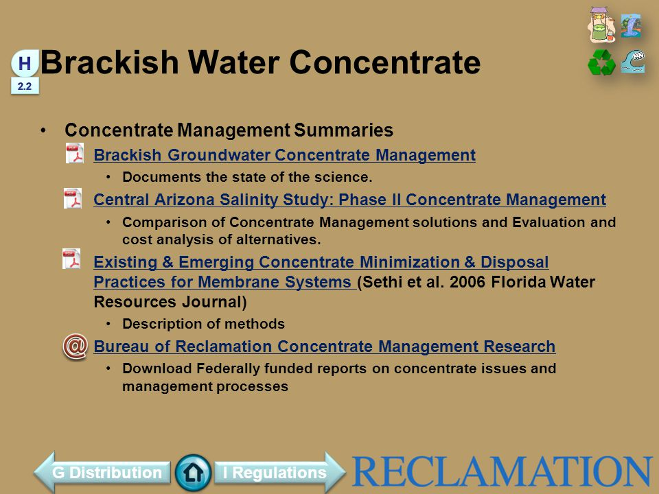 Brackish Water Concentrate