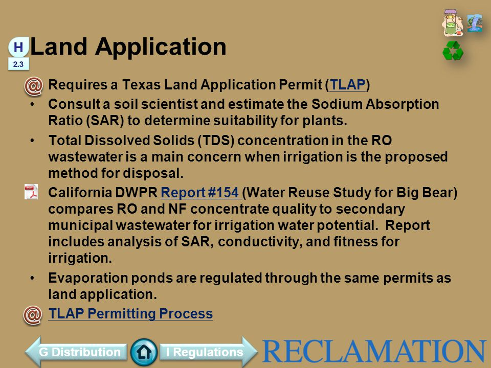 Land Application H Requires a Texas Land Application Permit (TLAP)