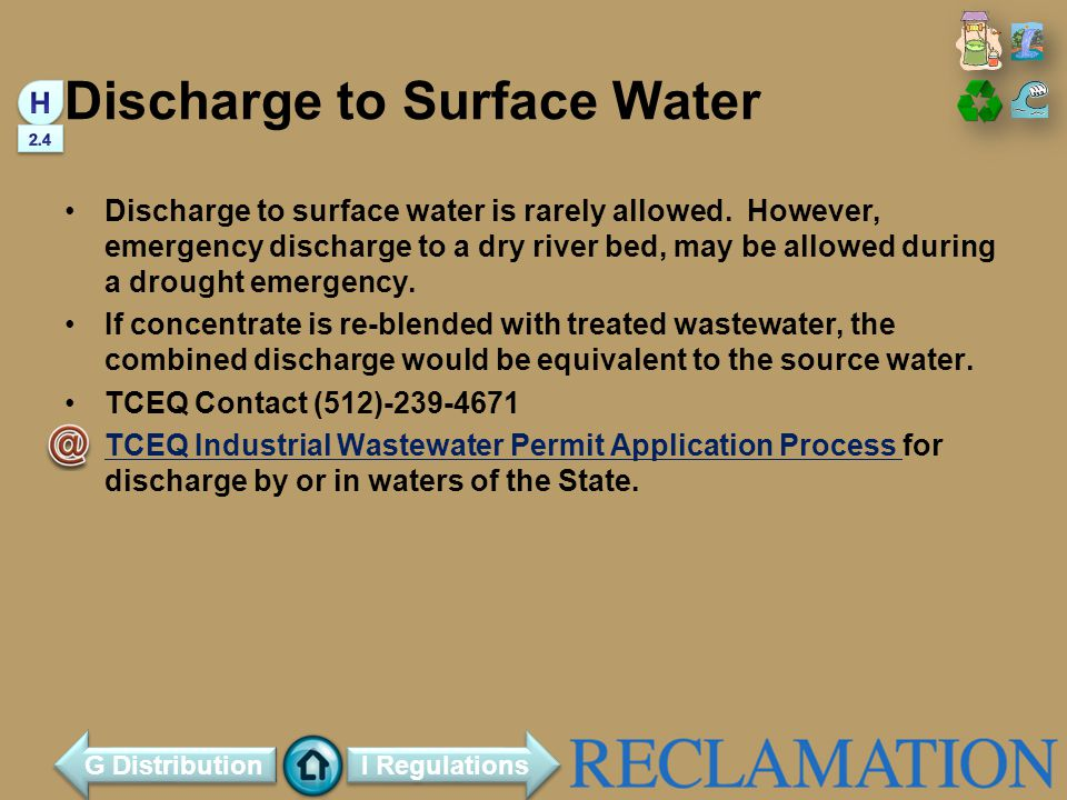 Discharge to Surface Water