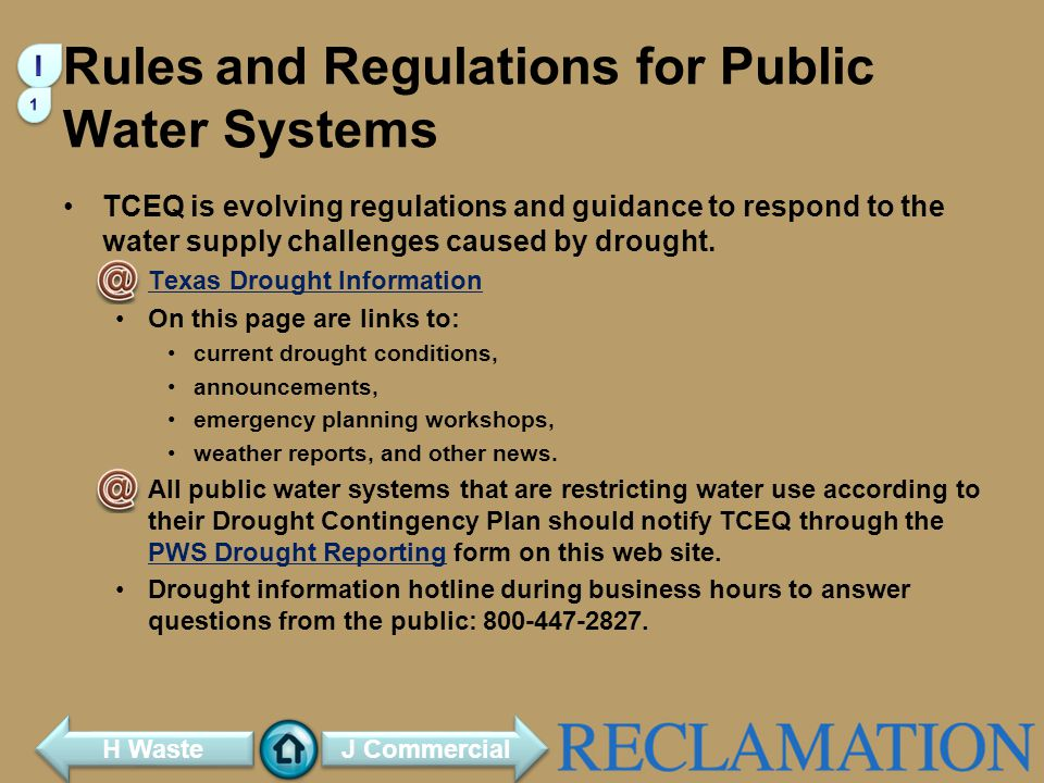 Rules and Regulations for Public Water Systems
