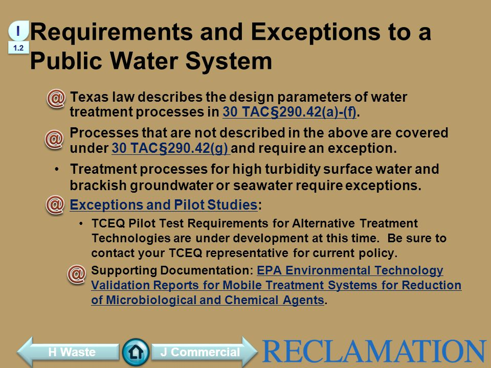 Requirements and Exceptions to a Public Water System