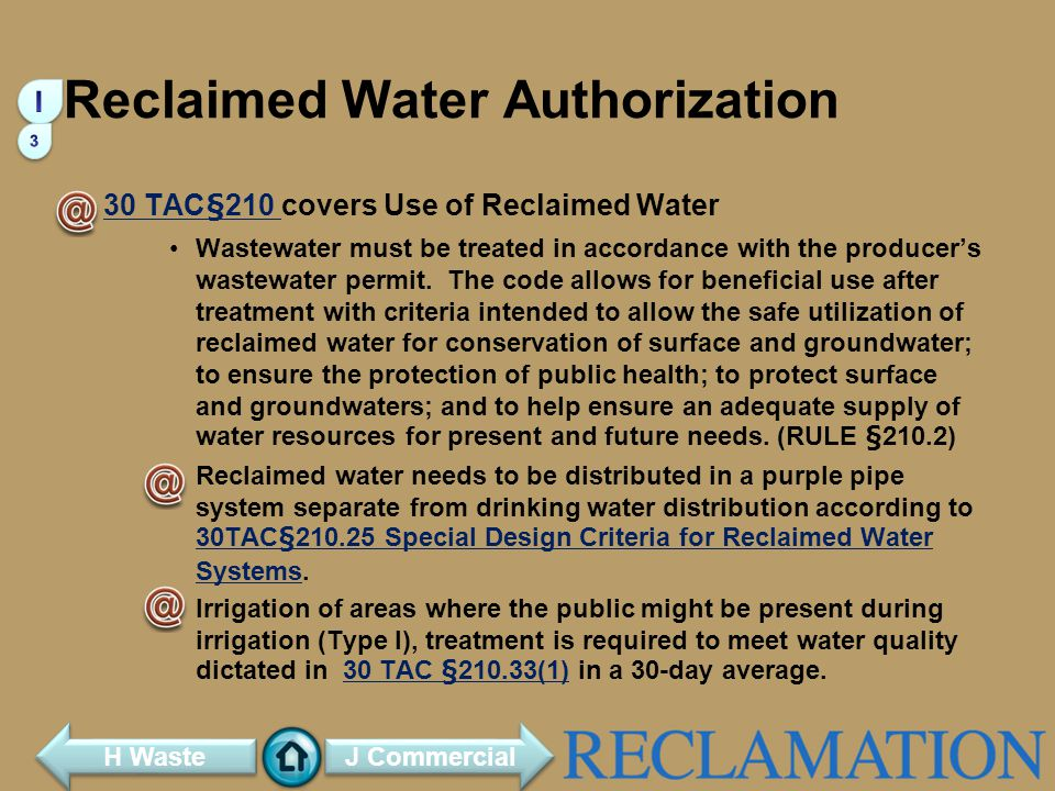 Reclaimed Water Authorization