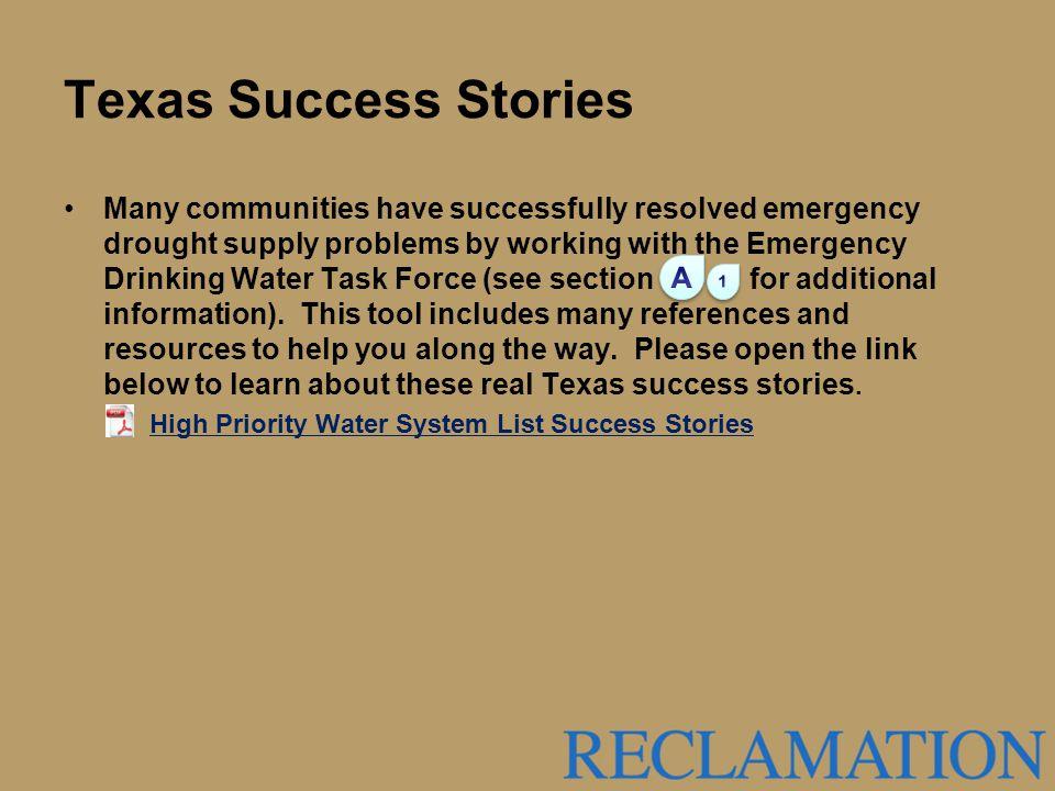 Texas Success Stories
