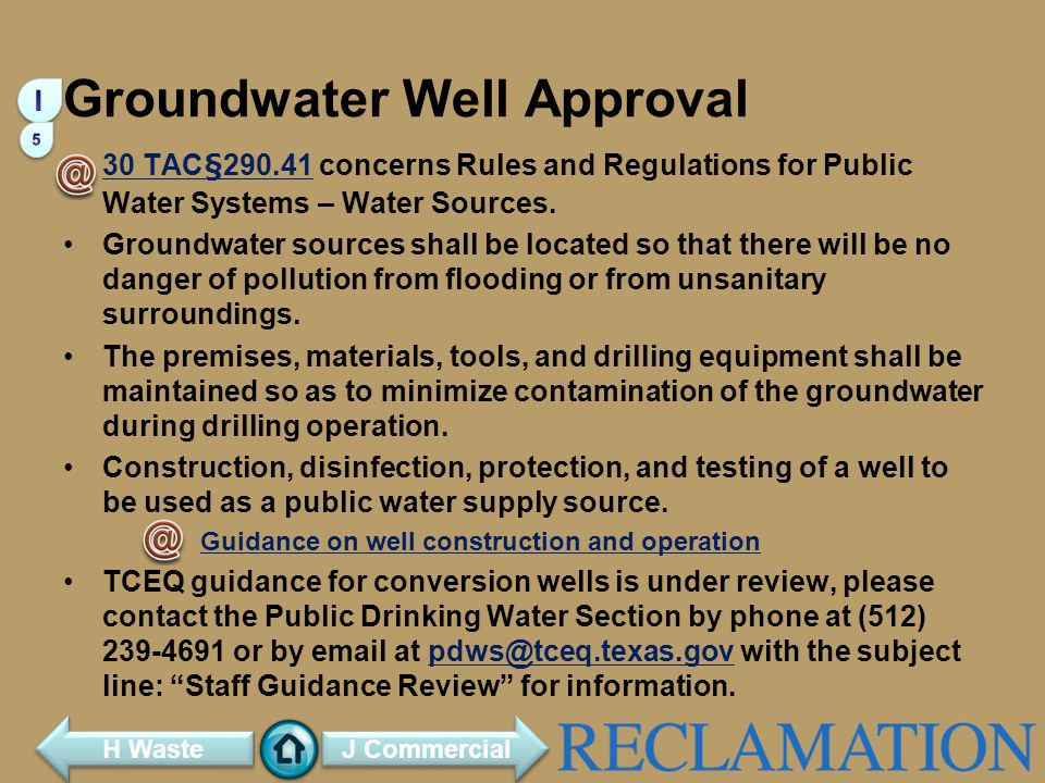 Groundwater Well Approval