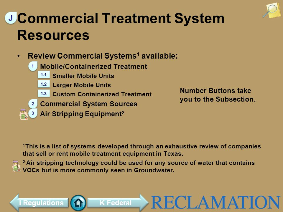 Commercial Treatment System Resources