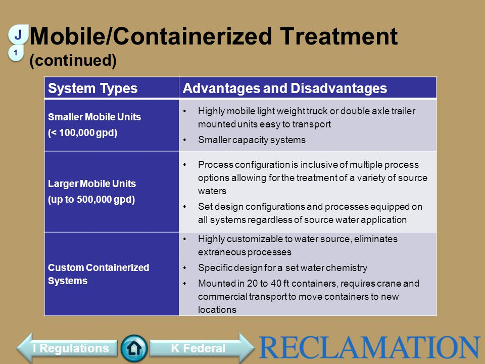 Mobile/Containerized Treatment (continued)