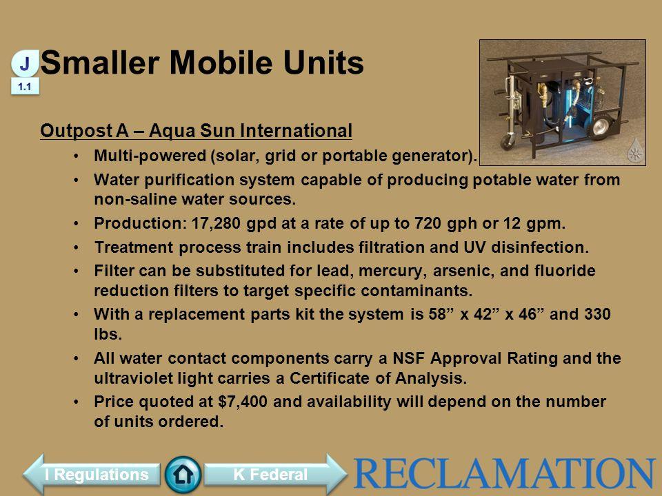 Smaller Mobile Units J Outpost A – Aqua Sun International