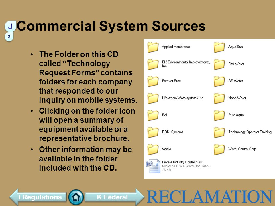Commercial System Sources