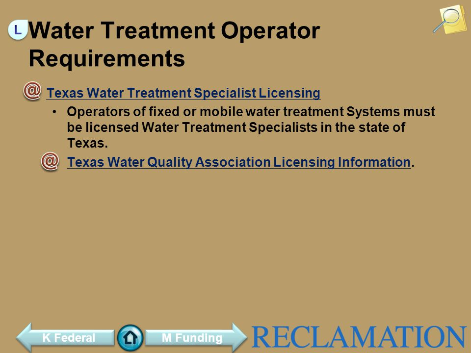 Water Treatment Operator Requirements