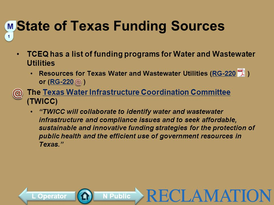 State of Texas Funding Sources