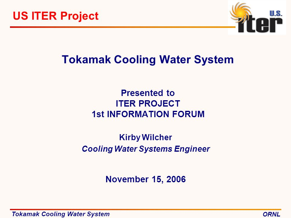 Kirby Wilcher Cooling Water Systems Engineer