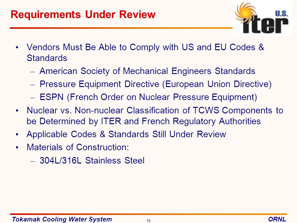 Requirements Under Review