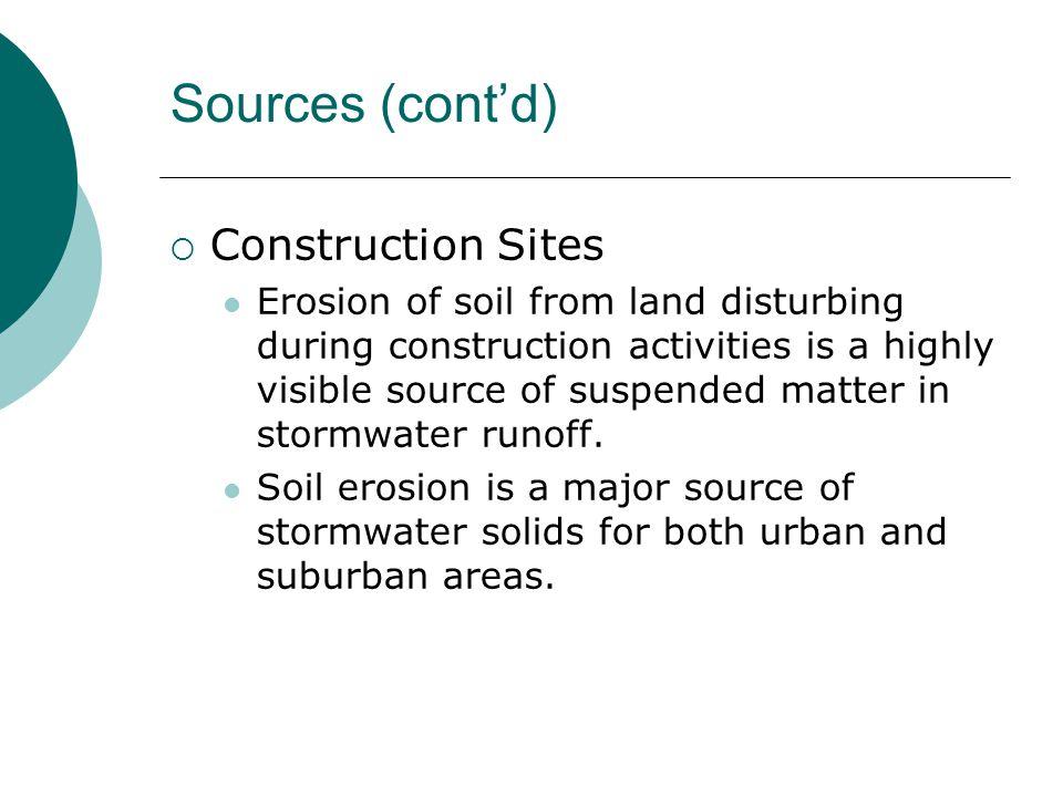 Sources (cont'd) Construction Sites