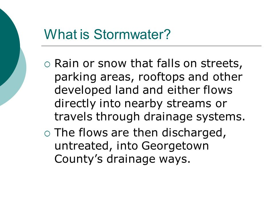 What is Stormwater