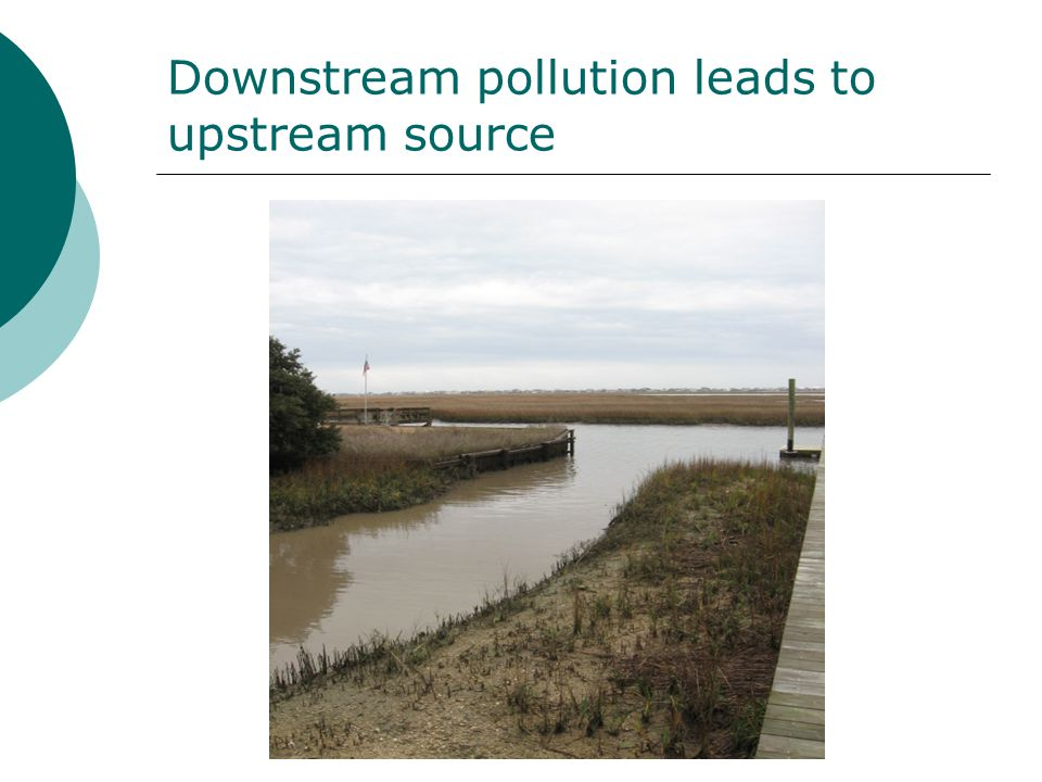 Downstream pollution leads to upstream source