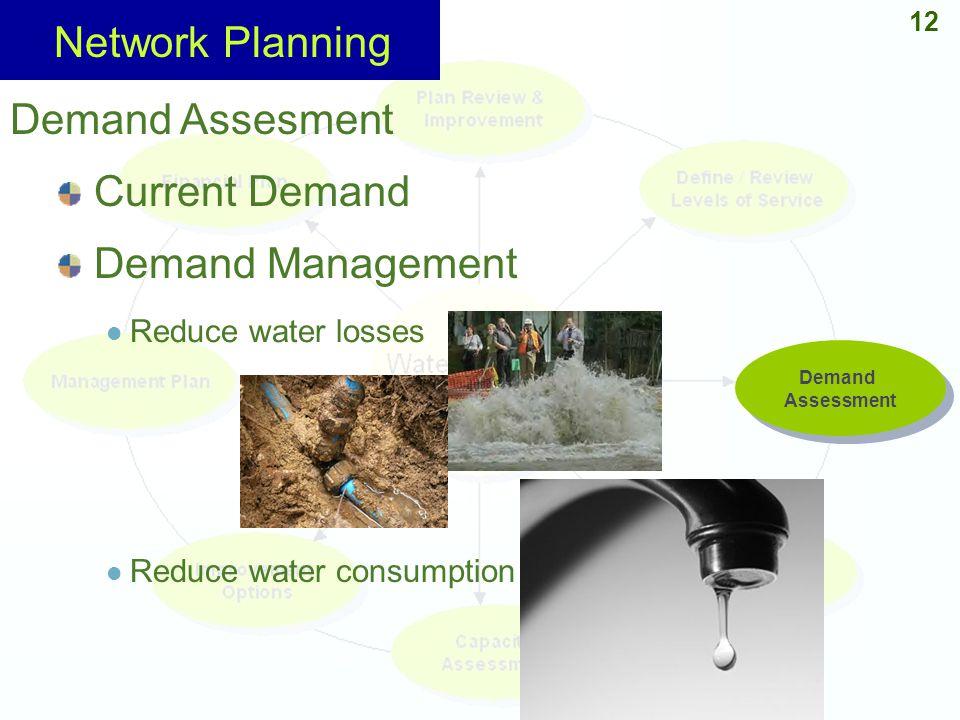 Network Planning Demand Assesment Current Demand Demand Management