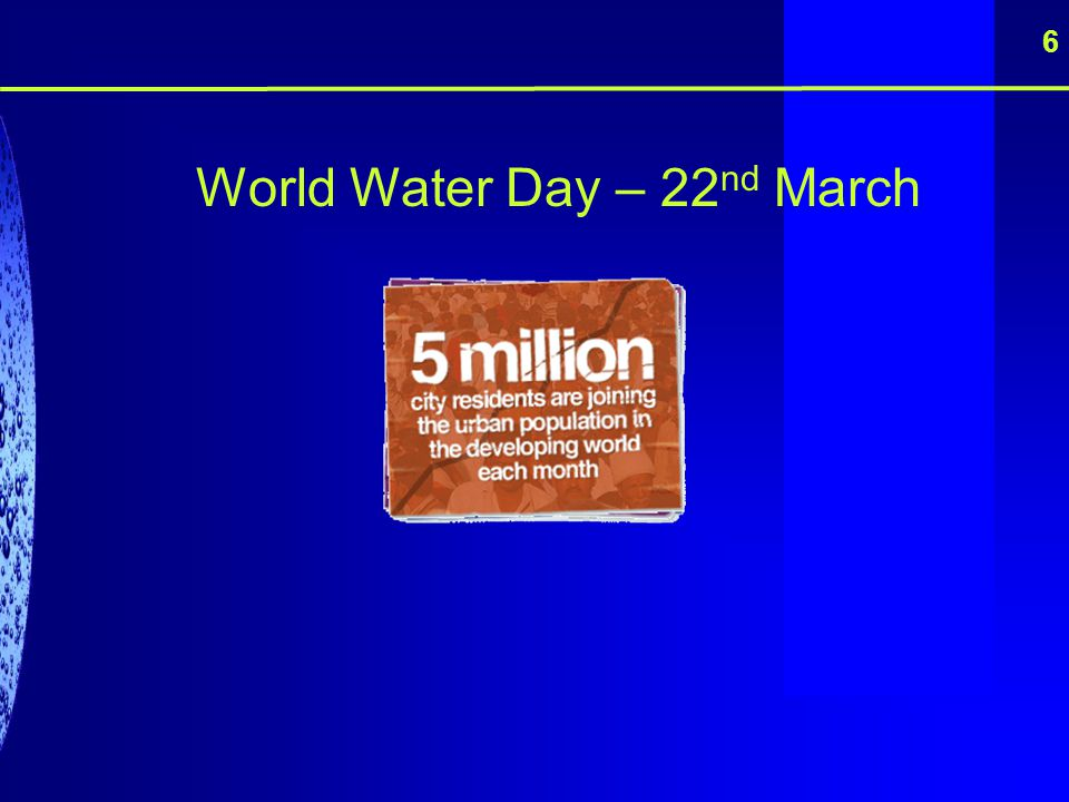 World Water Day – 22nd March