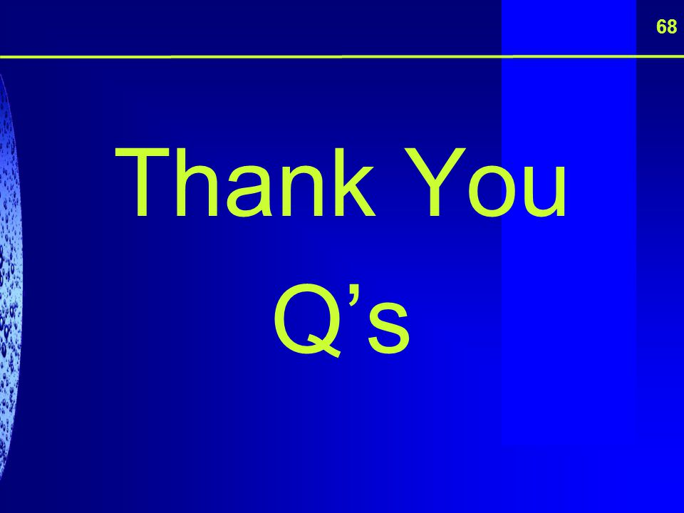 68 Thank You Q's
