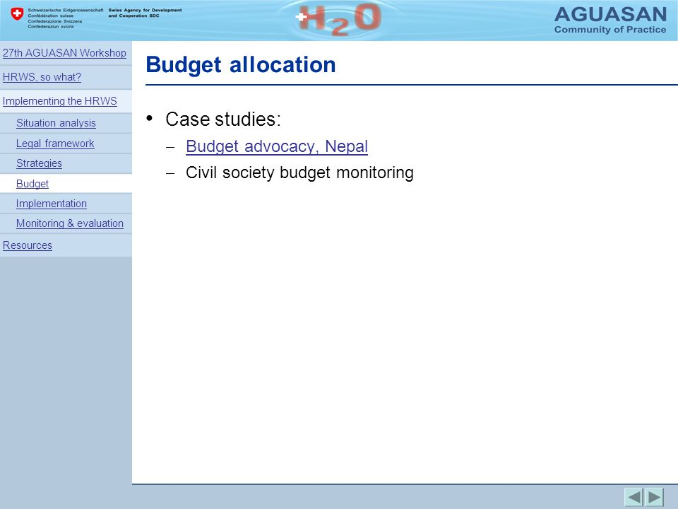 Budget allocation Case studies: Budget advocacy, Nepal