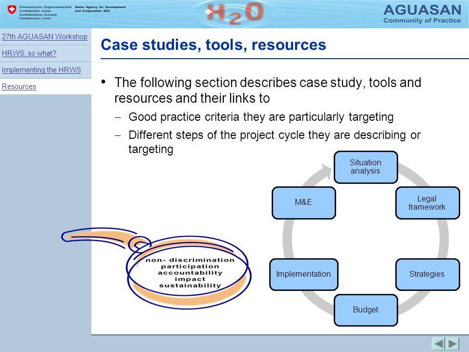Case studies, tools, resources