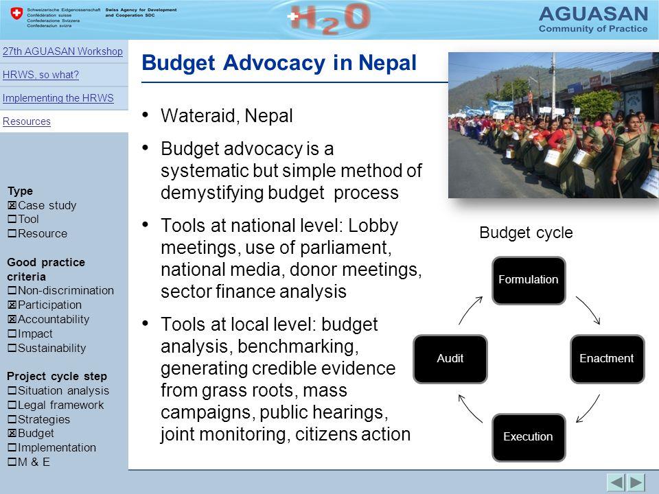 Budget Advocacy in Nepal