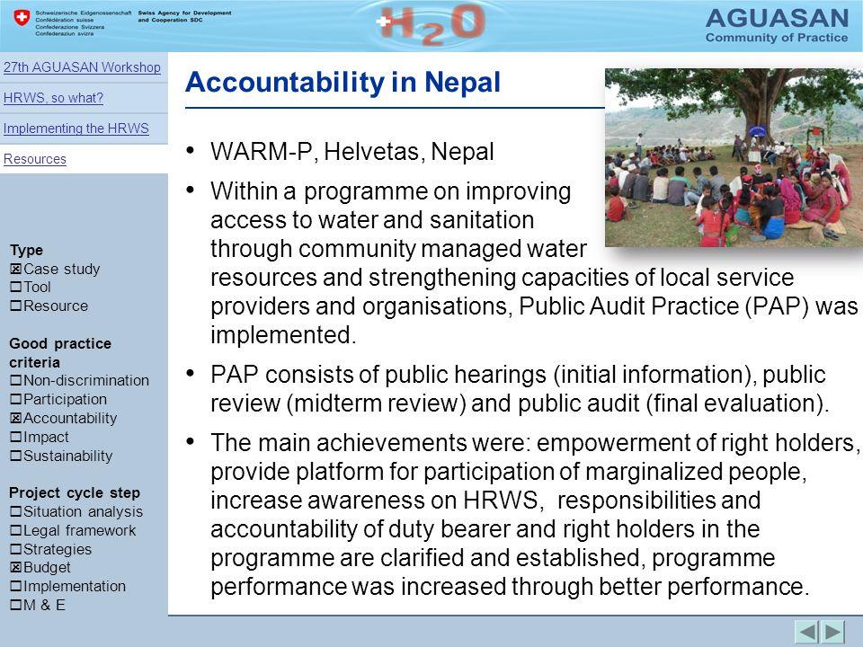 Accountability in Nepal