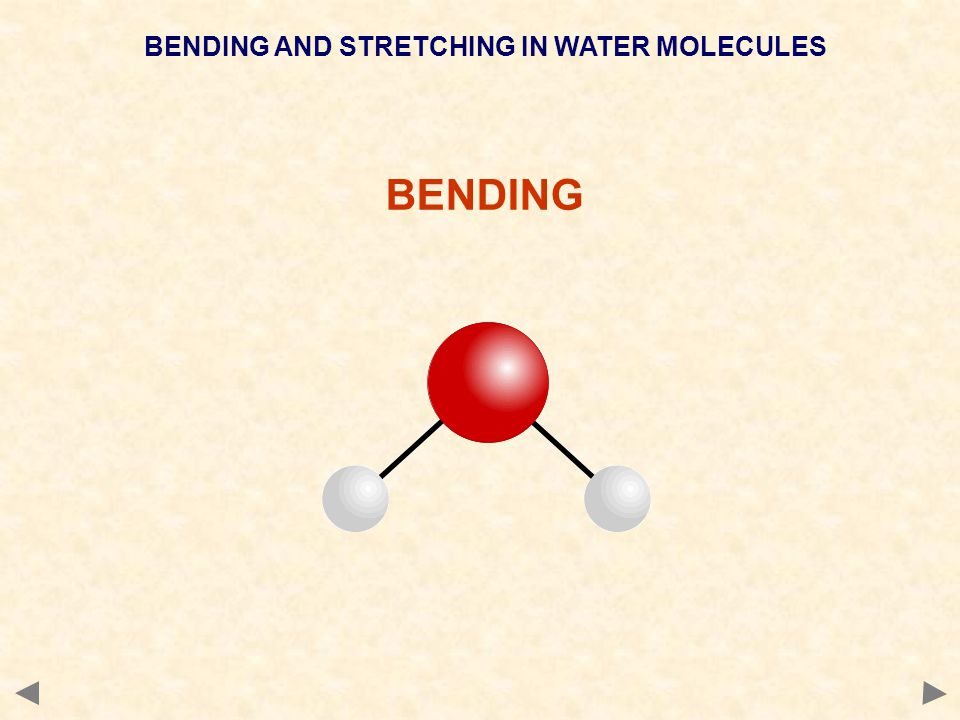 BENDING AND STRETCHING IN WATER MOLECULES