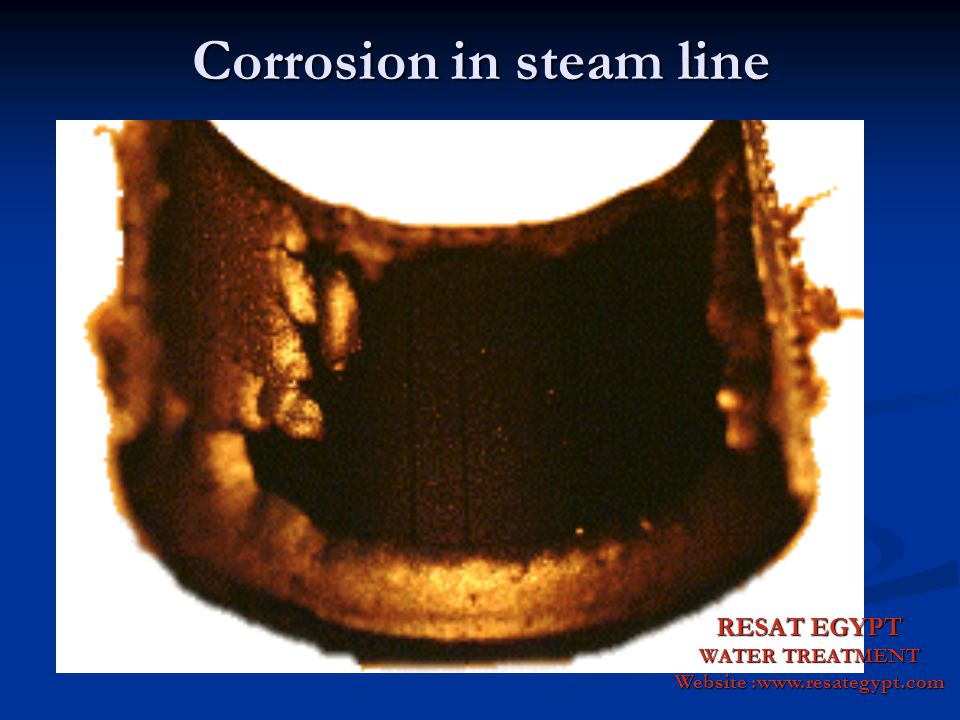 Corrosion in steam line