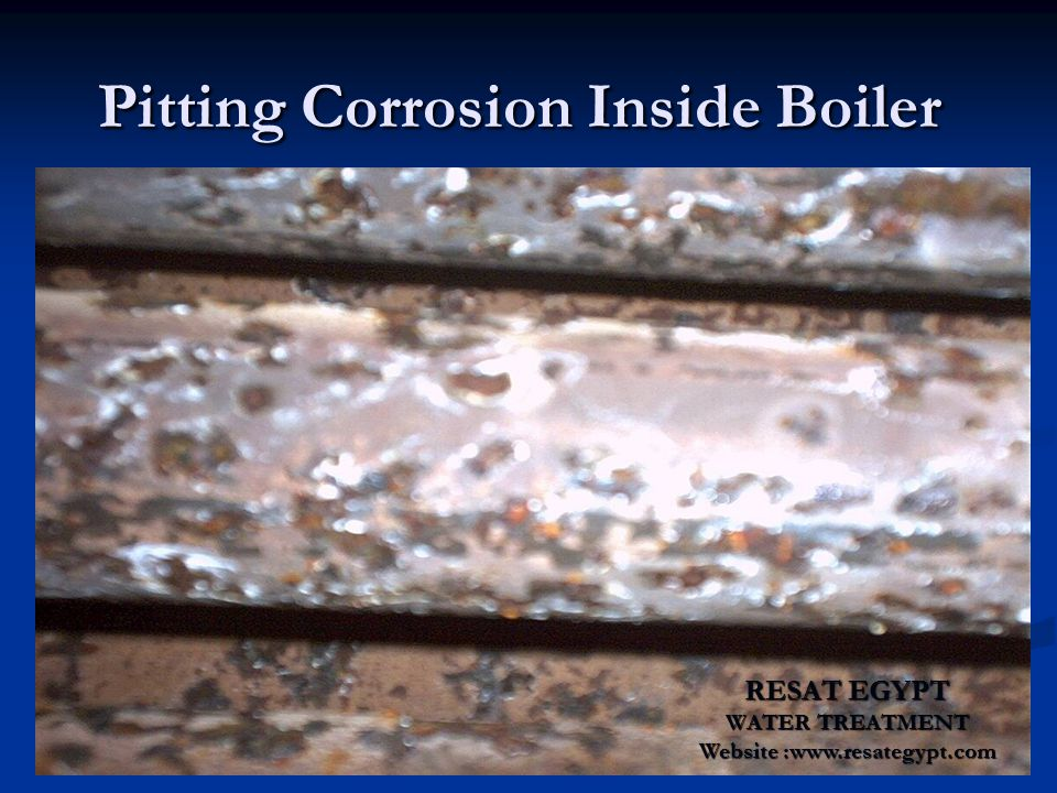 Pitting Corrosion Inside Boiler