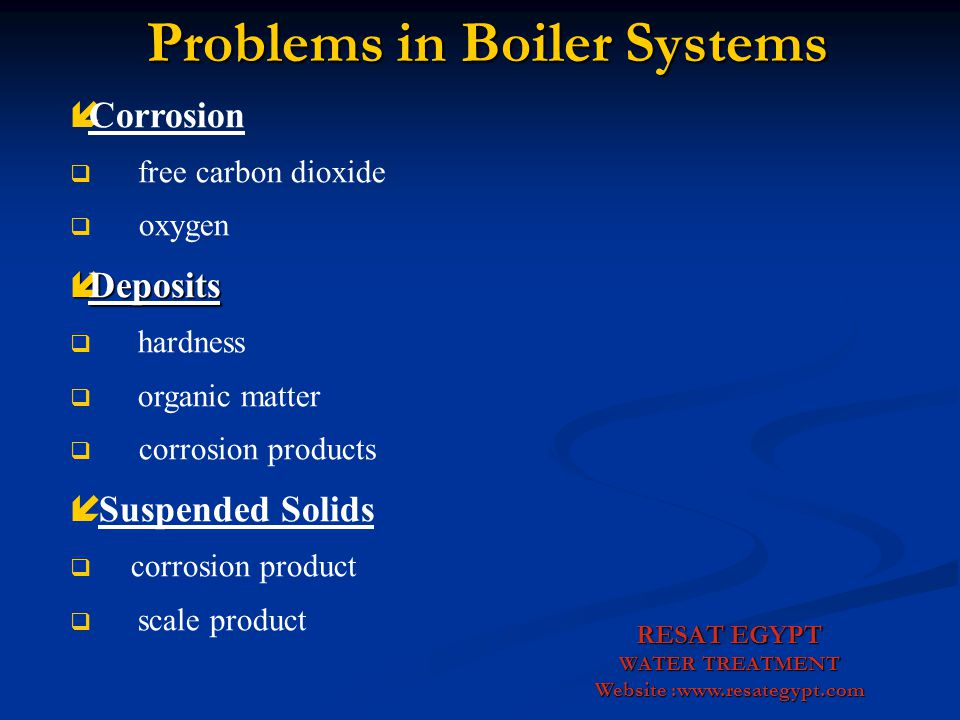 Problems in Boiler Systems