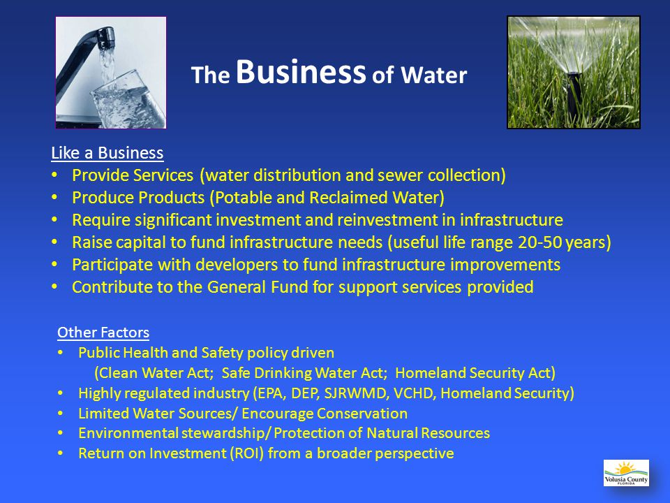 The Business of Water Like a Business
