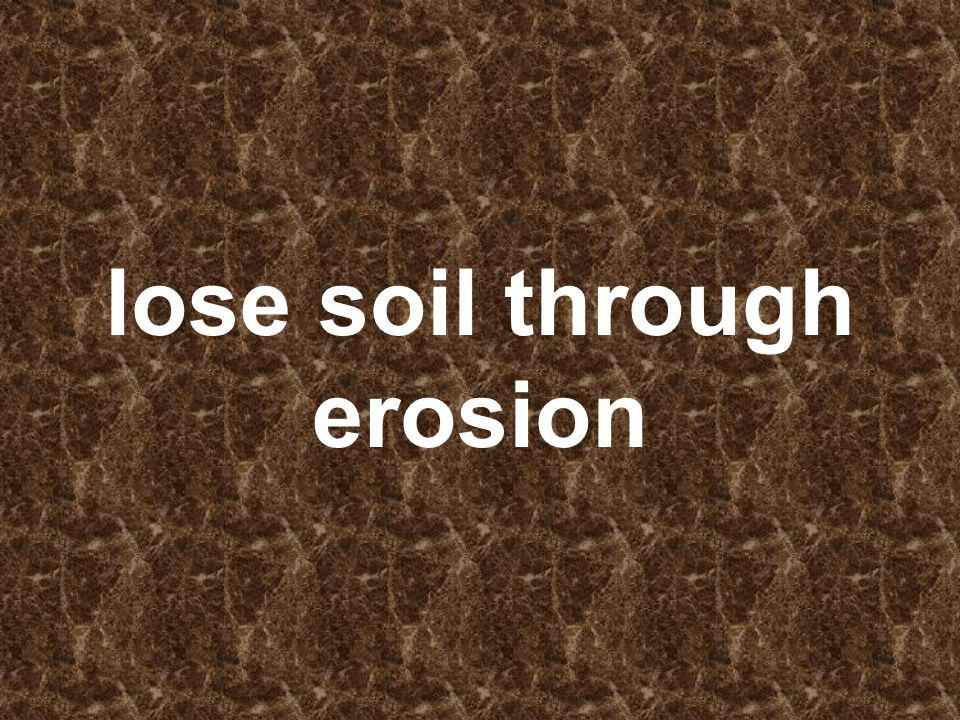 lose soil through erosion