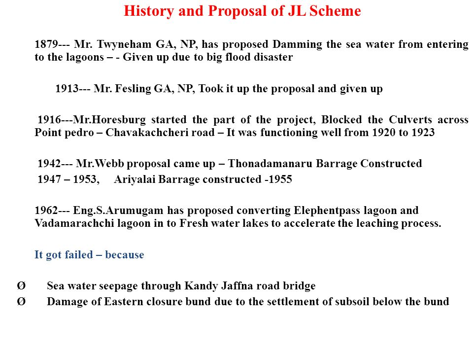 History and Proposal of JL Scheme