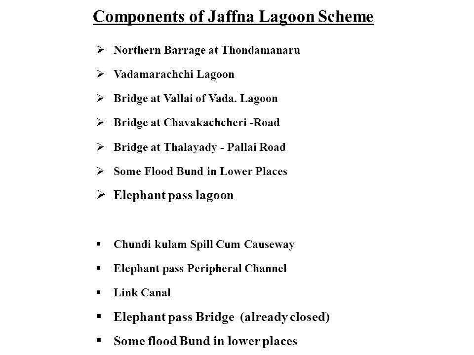 Components of Jaffna Lagoon Scheme