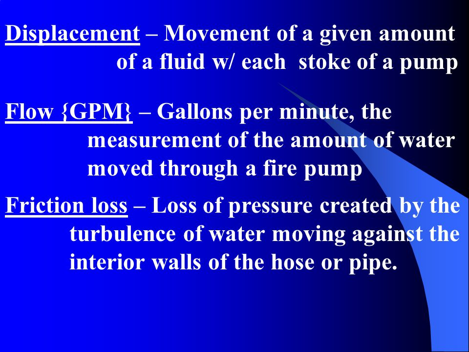 Displacement – Movement of a given amount