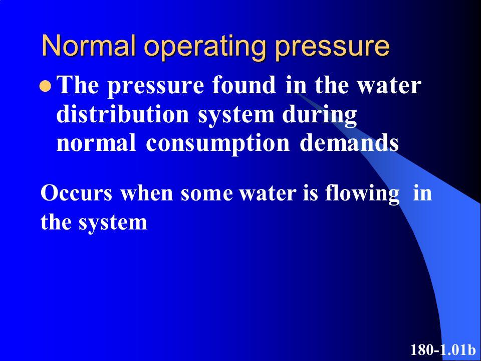 Normal operating pressure