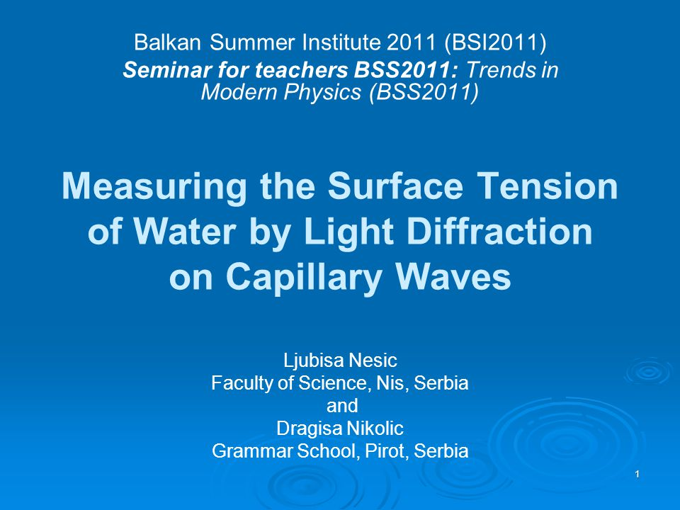 Balkan Summer Institute 2011 (BSI2011)