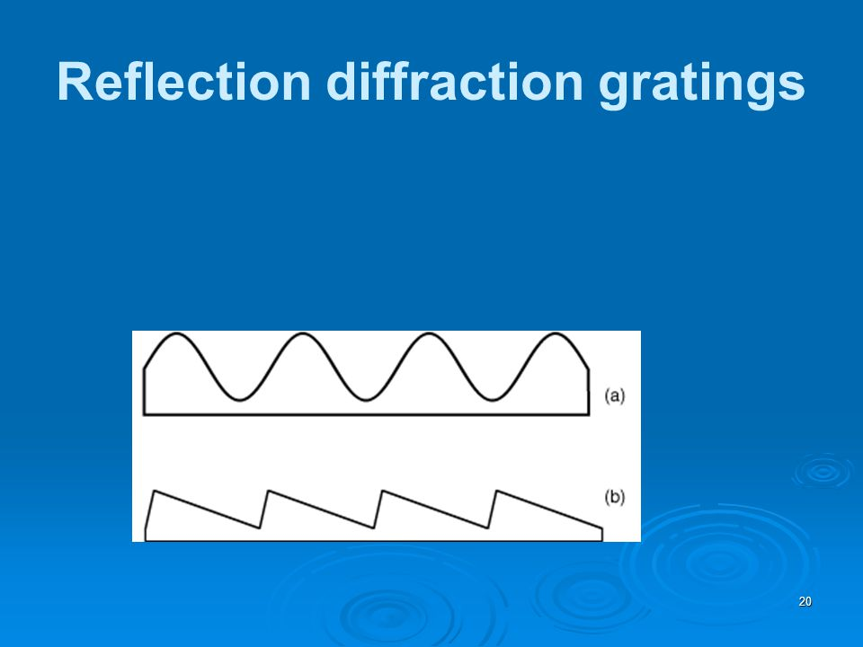 Reflection diffraction gratings