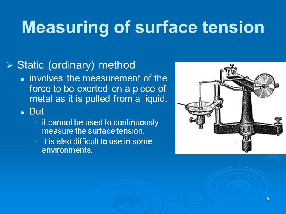 Measuring of surface tension