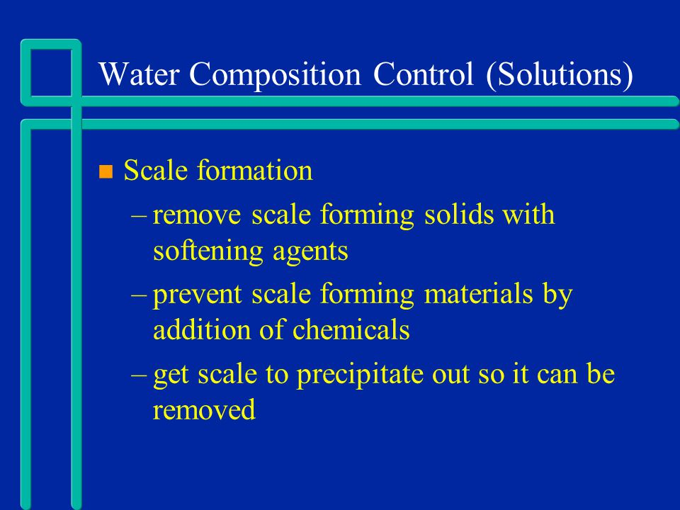 Water Composition Control (Solutions)