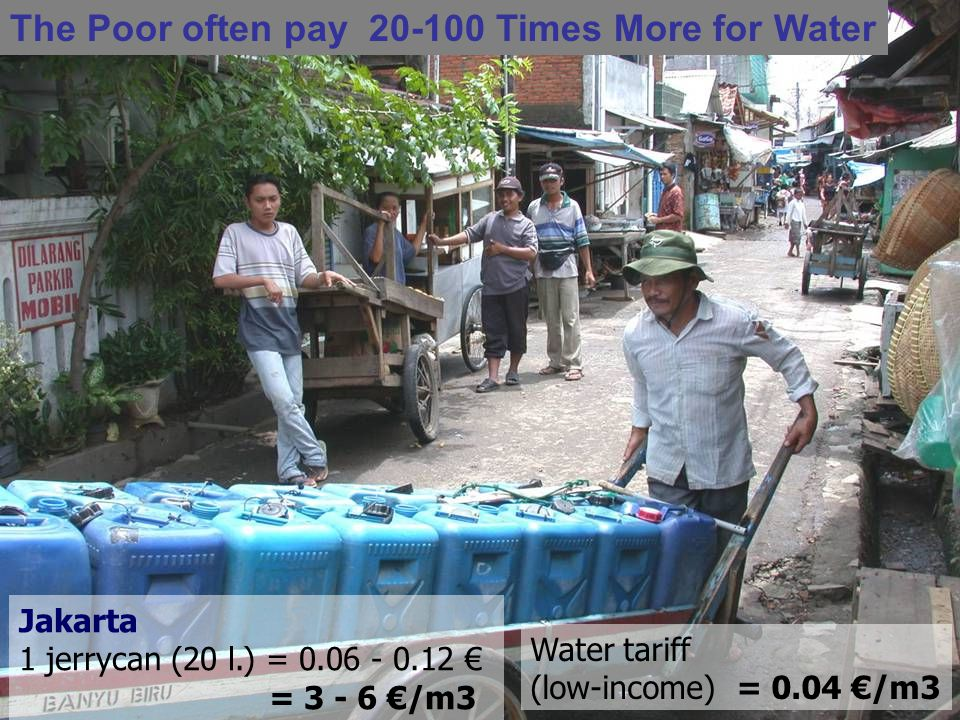 The Poor often pay 20-100 Times More for Water