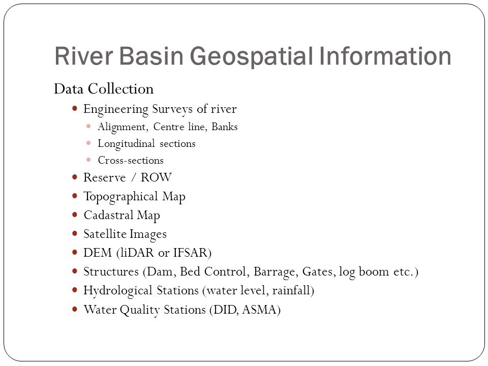 River Basin Geospatial Information