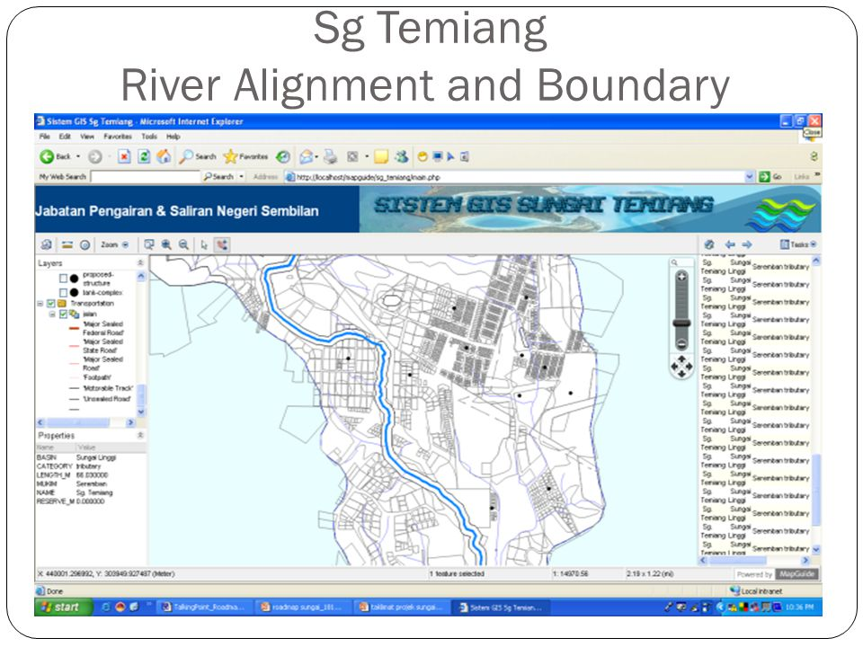 Sg Temiang River Alignment and Boundary