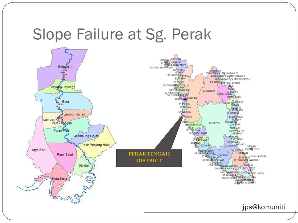 Slope Failure at Sg. Perak
