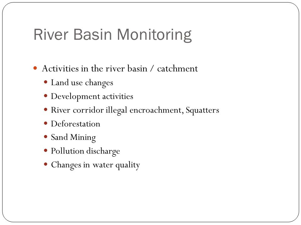 River Basin Monitoring