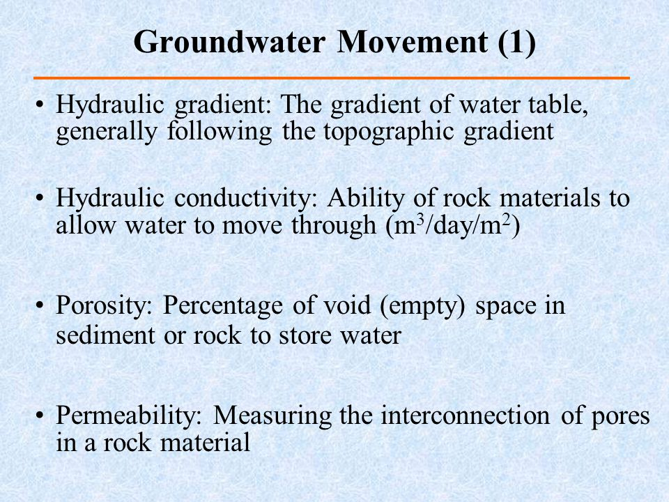 Groundwater Movement (1)