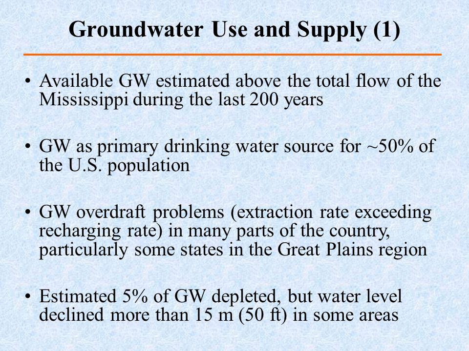 Groundwater Use and Supply (1)