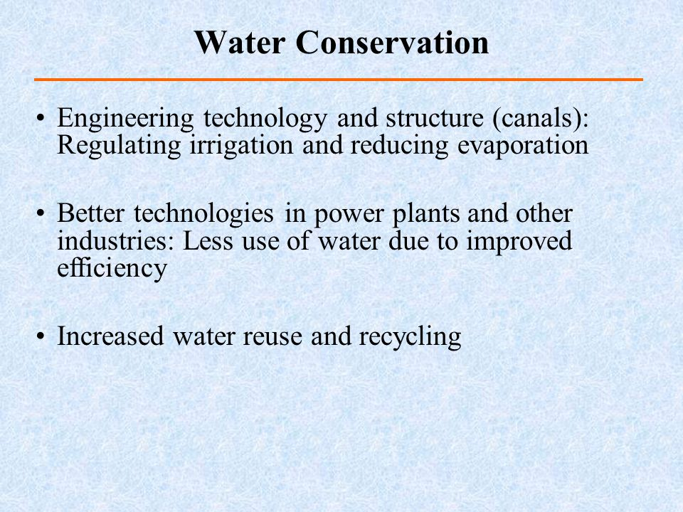 Water Conservation Engineering technology and structure (canals): Regulating irrigation and reducing evaporation.
